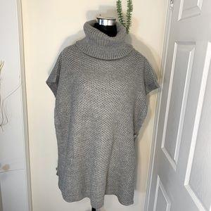 Calvin Klein Knit Cowl/Turtleneck Poncho